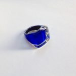 Acrylic High Square Ring in Azure.
