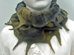 Hand Felted Cowl in Grey and Khaki