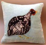 'Guinea Fowl on Powder Blue'