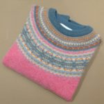 Lambswool Eribe Alpine Sweater in Nougat