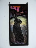 Stained Glass Evening Hare