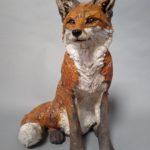Raku Fired Seated Fox