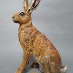 Raku Fired Sitting Hare