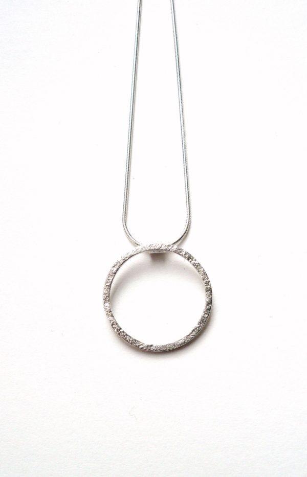 Single Circle Silver Necklace