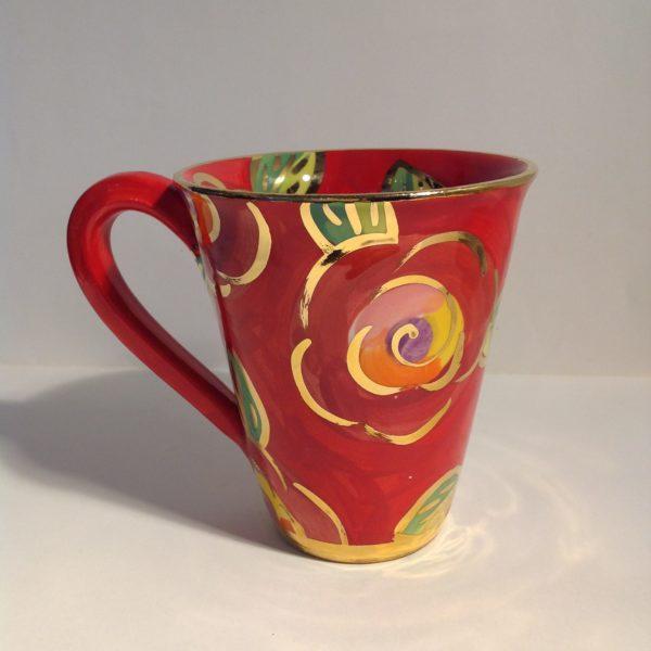 Ceramic Red Rose Mug