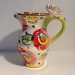 Ceramic Rose Handled Creamer