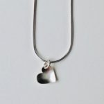 Silver Heart Necklace Large