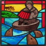 Stained Glass 'Music to the Seals' Panel