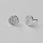 Disc Studs Silver Earrings