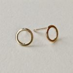 Flat Link Stud Earrings