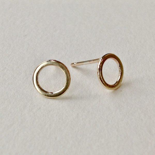 Flat Link Stud Earrings