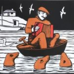 Limited Edition Woodcut 'Music to the Seals'