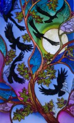 Hand Painted Glass Panel
