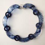 Perspex Navy Conifer Necklace