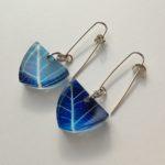 Acrylic Earrings Skeleton Leaf