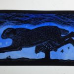 'Stained Glass panel 'She brings the Dawn'