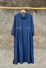 Linen Winter Button Dress