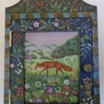 Hand Crafted Painted Cabinet