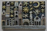 Ceramic Relief Townwith Stars