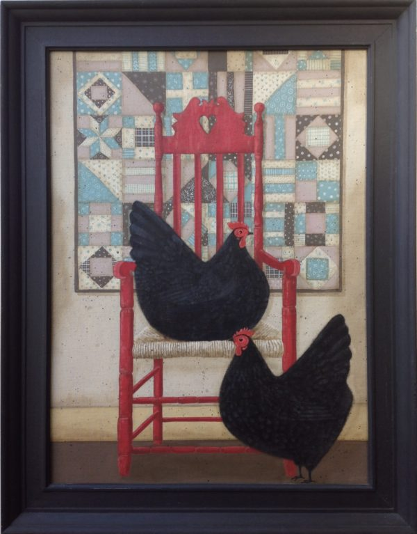 Original Acrylic 'The Red Chair'