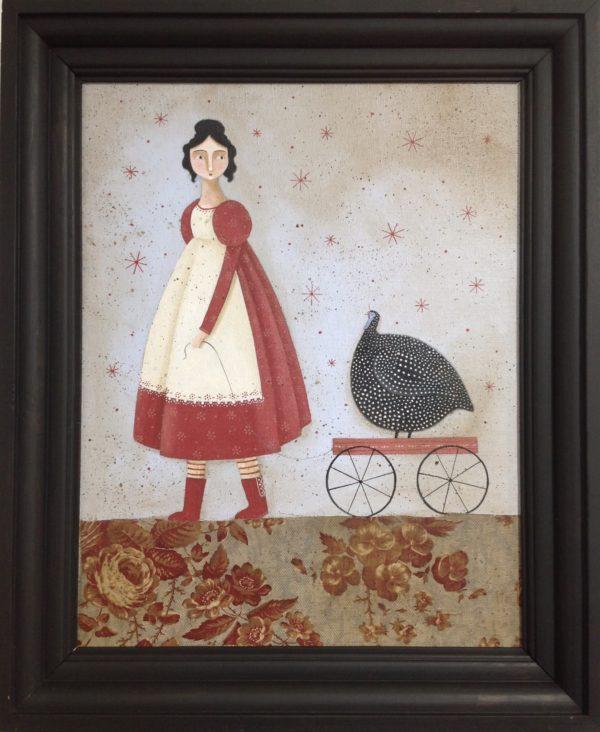 Original Acrylic 'Walking the Bird'