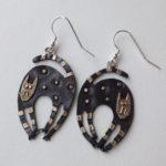 Brass & Bronze Earrings Scaredy Cat