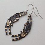 Brass & Bronze Earrings Crazy Cats