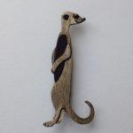 Brass & Bronze Meerkat Brooch