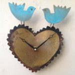 Bluebirds on Heart Clock