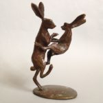 Bronze Boxing Hares