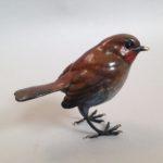 Bronze Standing Robin