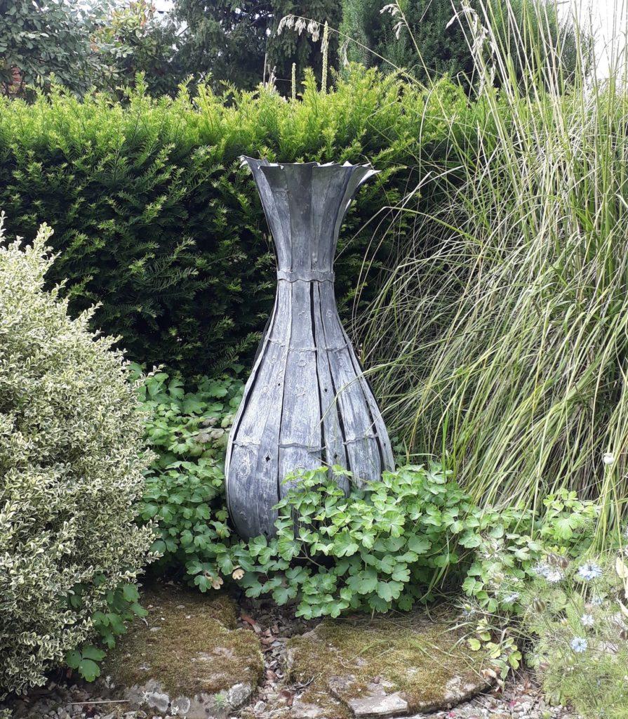 Forged Iron Decorative 'Onion' Vase