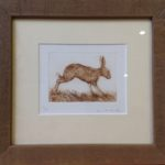 Etching Running Hare