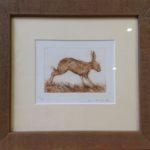 Etching Running Hare
