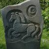 Hand Carved Sculpture Celtic Horse