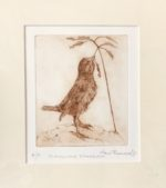 Etching Fledgling Sparrow