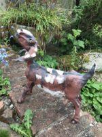Stoneware Goat Sculpture
