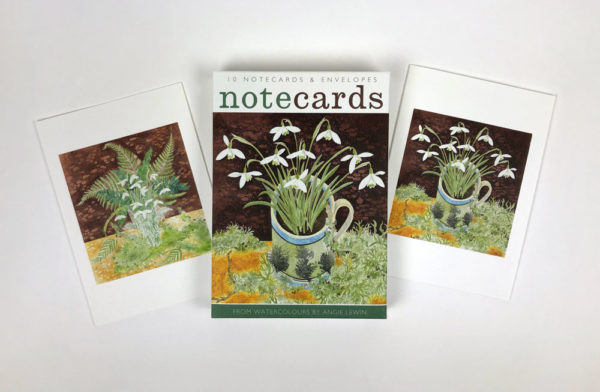 Note Cards  'Snowdrops and Ferns & Snowdrops and Lichen'