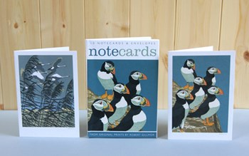 'Note Cards Puffins & Whooper Swans