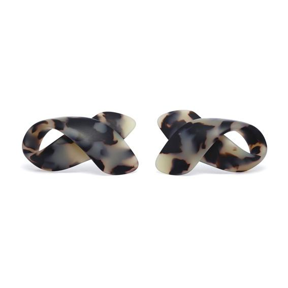Cellulose Acetate Bow Stud Earrings