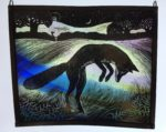 Stained Glass Panel  'Moonrise Hunter'