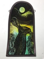 Stained Glass Panel  'Nighttime Nibbler'