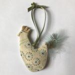 Ceramic Cockerels on ribbon