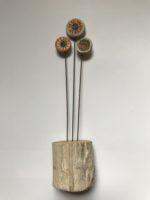 Ceramic & driftwood Tiny Flower Stems