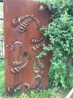 Forged Iron Screen Rust Finish