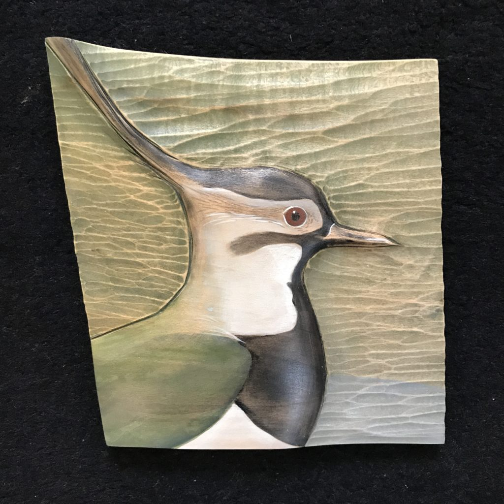 ''Relief Wood Carving Lapwing