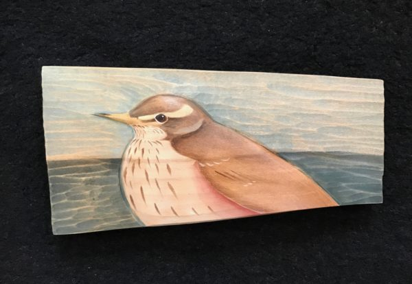 'Relief Wood Carving Redwing