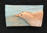 'Relief Wood Carving Spotted Crake