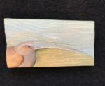 'Relief Wood Carving Dunnock & Landscape