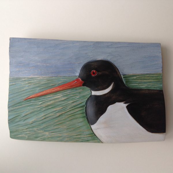 Relief Wood Carving 'Oystercatcher'